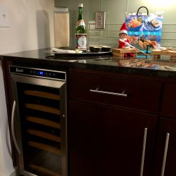 Built in wine cooler in the kitchens at Venue luxury apartments
