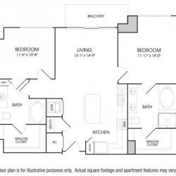 The Sovereign at Regent Square Apartments 2 bedroom, 1121ft² floorplan