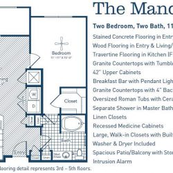 The Westheimer Houston Apartments 2 bedroom, 1124ft² floorplan