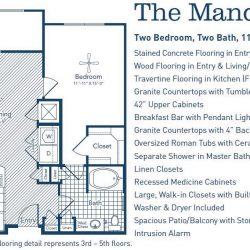 The Westheimer Houston Apartments 2 bedroom, 1124ft² floorplan