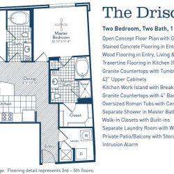 The Westheimer Houston Apartments 2 bedroom, 1138ft² floorplan