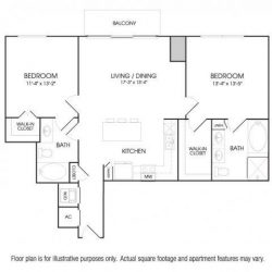 The Sovereign at Regent Square Apartments 2 bedroom, 1156ft² floorplan