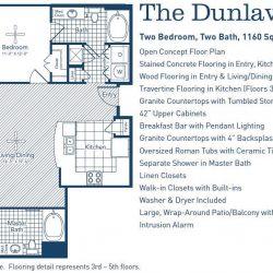 The Westheimer Houston Apartments 2 bedroom, 1160ft² floorplan