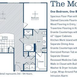 The Westheimer Houston Apartments 1 bedroom, 1165ft² floorplan