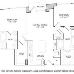 The Sovereign at Regent Square Apartments 2 bedroom, 1194ft² floorplan