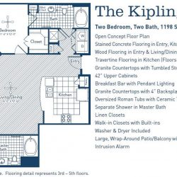 The Westheimer Houston Apartments 2 bedroom, 1198ft² floorplan