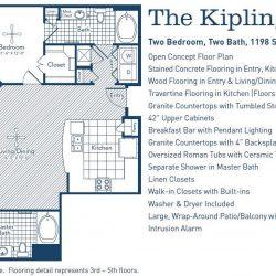 The Westheimer Houston Apartments 2 bedroom, 1198ft² floorplan