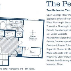 The Westheimer Houston Apartments 2 bedroom, 1205ft² floorplan