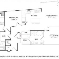 The Sovereign at Regent Square Apartments 2 bedroom, 1301ft² floorplan