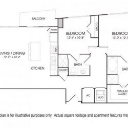 The Sovereign at Regent Square Apartments 2 bedroom, 1316ft² floorplan