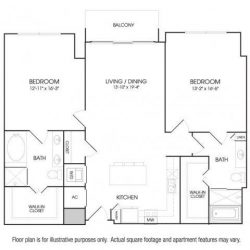 The Sovereign at Regent Square Apartments 2 bedroom, 1375ft² floorplan