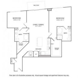 The Sovereign at Regent Square Apartments 2 bedroom, 1417ft² floorplan