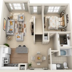 Estates at Memorial Heights Houston Apartments 2 bedroom, 1495ft² Floorplan
