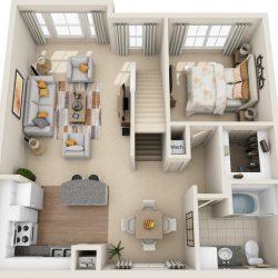 Estates at Memorial Heights Houston Apartments 2 bedroom, 1495ft² Floorplan