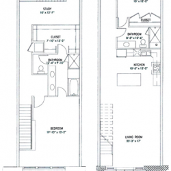 City View Lofts Houston Apartments 2 Bedroom, 1834ft² Floorplan