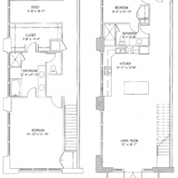 City View Lofts Houston Apartments 2 Bedroom, 2003ft² Floorplan