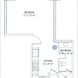City View Lofts Houston Apartments 1 Bedroom, 502ft² Floorplan