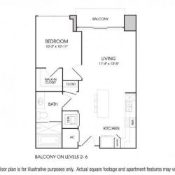 The Sovereign at Regent Square Apartments 1 bedroom, 672ft² floorplan