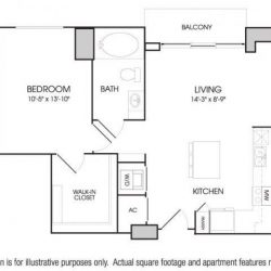 The Sovereign at Regent Square Apartments 1 bedroom, 731ft² floorplan