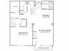 Metro Midtown Apartments 1 bedroom, 776ft² floorplan