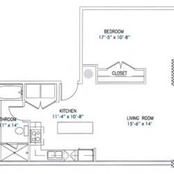City View Lofts Houston Apartments 1 Bedroom, 776ft² Floorplan