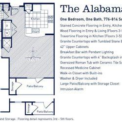 The Westheimer Houston Apartments 1 bedroom, 781-814ft² floorplan