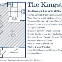 The Westheimer Houston Apartments 1 bedroom, 802ft² floorplan