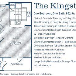 The Westheimer Houston Apartments 1 bedroom, 802ft² floorplan