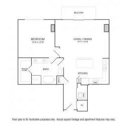 The Sovereign at Regent Square Apartments 1 bedroom, 911ft² floorplan