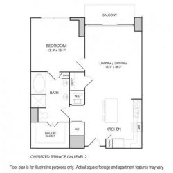 The Sovereign at Regent Square Apartments 1 bedroom, 935ft² floorplan