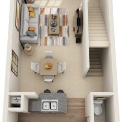 Estates at Memorial Heights Houston Apartments 1 bedroom, 941ft² Floorplan