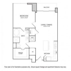 The Sovereign at Regent Square Apartments 1 bedroom, 955ft² floorplan