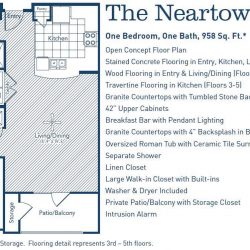 The Westheimer Houston Apartments 1 bedroom, 958ft² floorplan