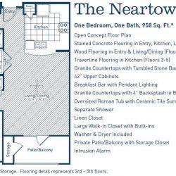 The Westheimer Houston Apartments 1 bedroom, 958ft² floorplan