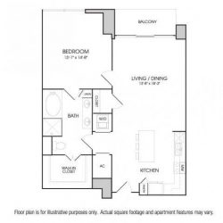 The Sovereign at Regent Square Apartments 1 bedroom, 960ft² floorplan