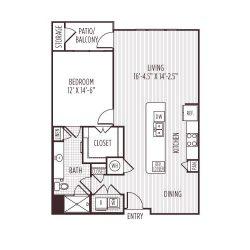 Ashton West Dallas Montrose Houston Apartments 1 bedroom, 961ft² floorplan