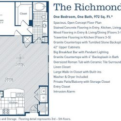 The Westheimer Houston Apartments 1 bedroom, 972ft² floorplan