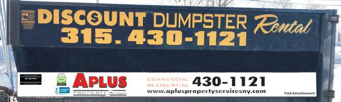 A part of the A Plus dumpster rental fleet
