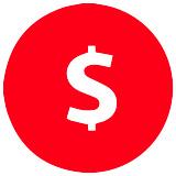 A vector image of a dollar symbol.