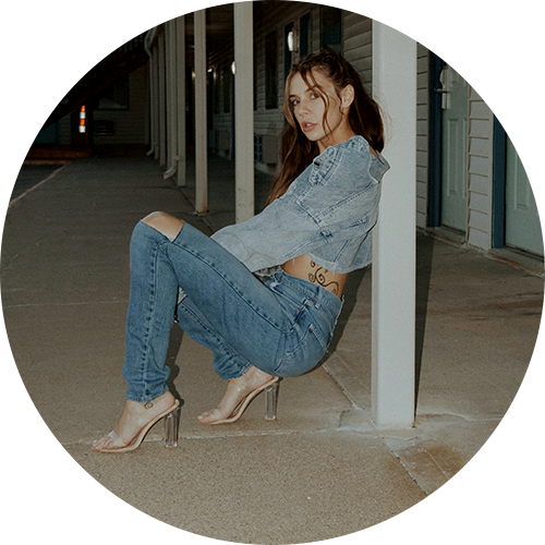 Photo of a woman in vintage denim