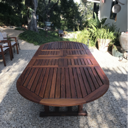Outdoor Dining Table Refinish After