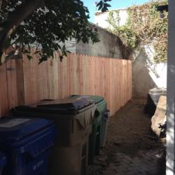 New Cedar Fence Installation