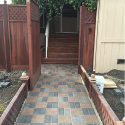 Brick Path Installation After