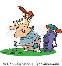 golfer-with-divots