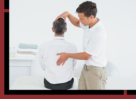 chiropractor adjusting a lower back