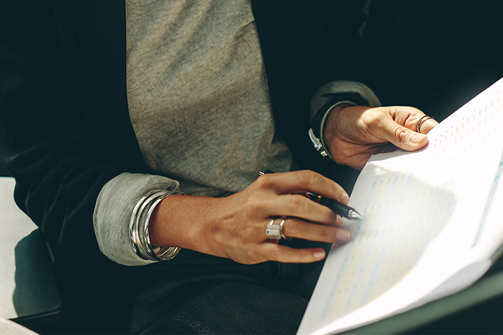 Female professional paperwork