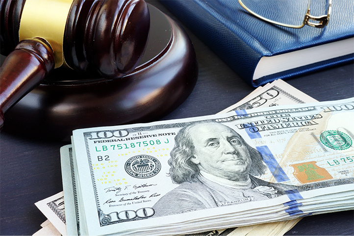 Image of money with a gavel