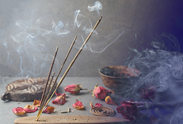 Incense used for psychic readings at Astrology Boutique in Chicago.