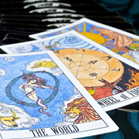 Tarot cards used for a psychic tarot card reading at Astrology Boutique in Chicago.