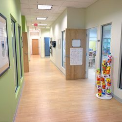 A hallway at Strong Start Early Learning Center